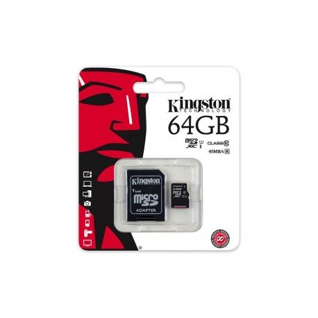 KINGSTON TARJETA MEMORIA MICROSDXC 64GB CLASS10 UHS-I