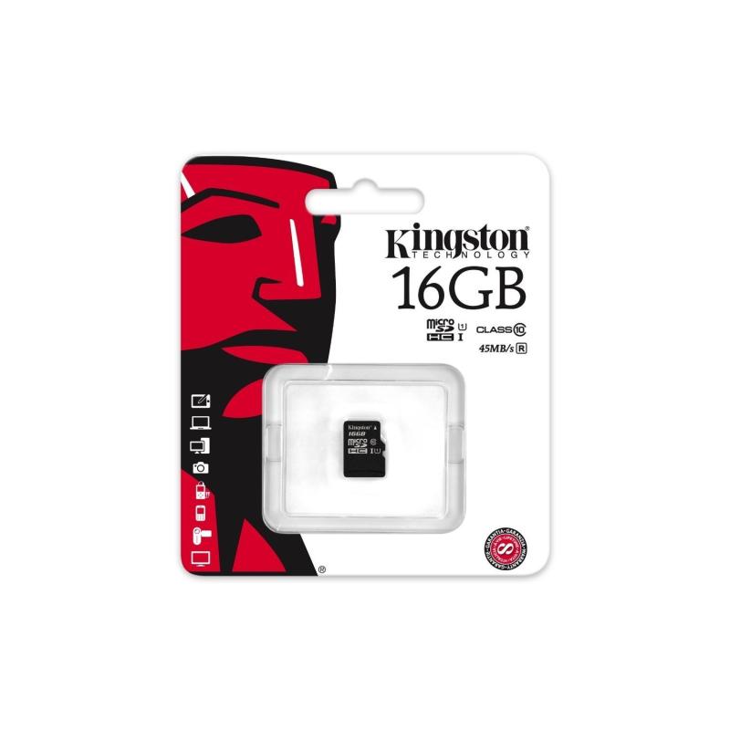 KINGSTON TARJETA MEMORIA MICROSHC 16GB CLASS10 UHS-I