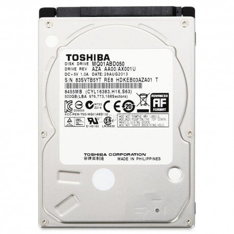 "TOSHIBA MQ01ABD050 500GB 2.5"" 5400RPM DISCO DURO INTERNO PORTATIL"