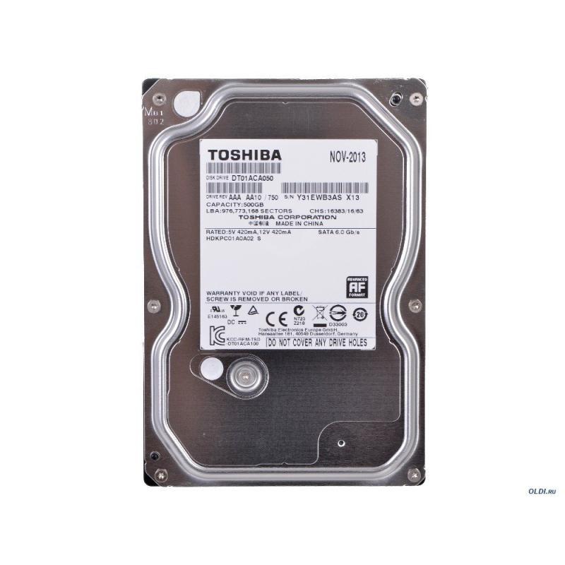 "TOSHIBA DT01ACA050 500GB 3.5"" 7200RPM DISCO DURO INTERNO"