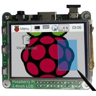 """PANTALLA LCD TACTIL 2,4"""" 320X240 48MHZ PARA RASPBERRY PI"""