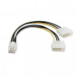 CABLE CONVERSOR 2xMOLEX 4 PINES A PCI-EXPRESS 6 PINES