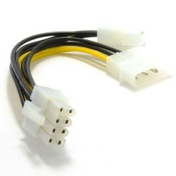 CABLE CONVERSOR 2xMOLEX 4 PINES A PCI-EXPRESS 8 PINES