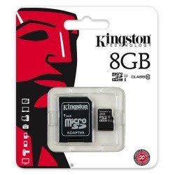 KINGSTON TARJETA MEMORIA MICROSDHC 8GB CLASS10 UHS-I