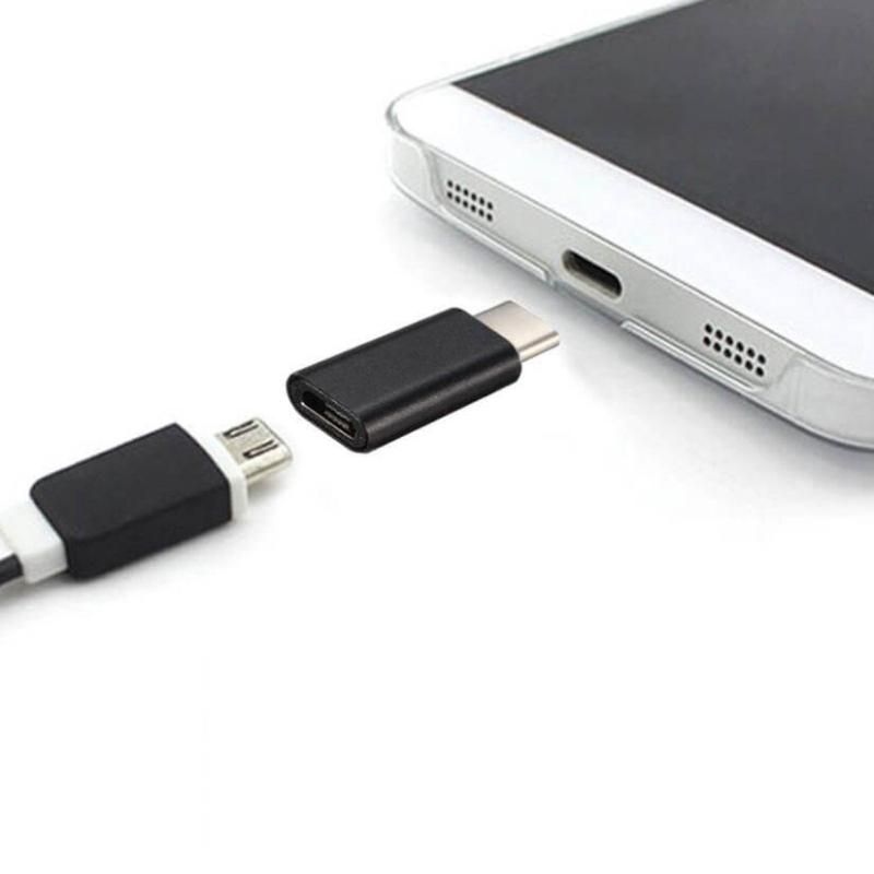 MINI CONVERSOR MICROUSB A USB 3.1 TIPO C (NEGRO)