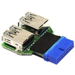 LIAN-LI UC-01 CONVERSOR USB 3.0 1xUSB 3.0 20PIN/H A 2xUSB 3.0 USB-A/H
