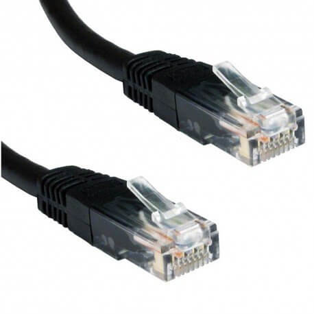 CABLE RED ETHERNET UTP CAT.5E RJ45 1 METRO NEGRO