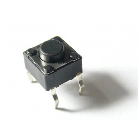 MICRO PULSADOR SWITCH TACTIL 6X6X5MM (PACK x4)