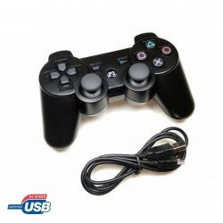 MANDO GAMEPAD CON CABLE USB PARA PS3, PC, MAC Y RETROPIE