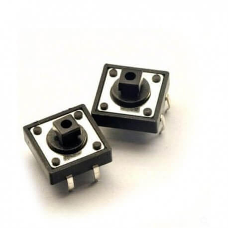 MICRO PULSADOR SWITCH TACTIL 12X12X7.3MM (PACK x4)