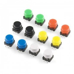 MICRO PULSADOR SWITCH TACTIL 12X12X7.3MM CON TAPON