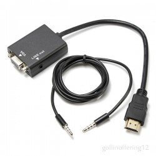 CABLE CONVERSOR HDMI A VGA+SONIDO - COMPATIBLE RASPBERRY PI