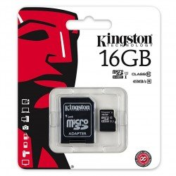 KINGSTON TARJETA MEMORIA MICROSDHC 16GB CLASS10 UHS-I