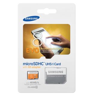 SAMSUNG MICROSDHC 8GB CLASS10 UHS-I EVO 48MB/S