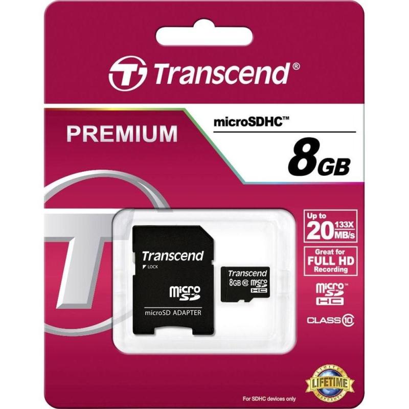 TRANSCEND PREMIUM MICROSDHC 8GB CLASS10 20MB/S