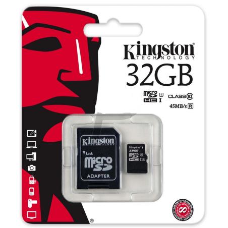 KINGSTON TARJETA MICROSDHC 32GB CLASS10 UHS-I 45MB/S SDC10G2/32GB
