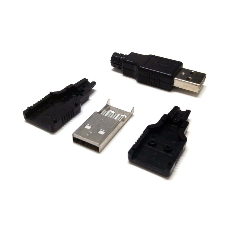 CONECTOR USB-A/M PARA SOLDAR