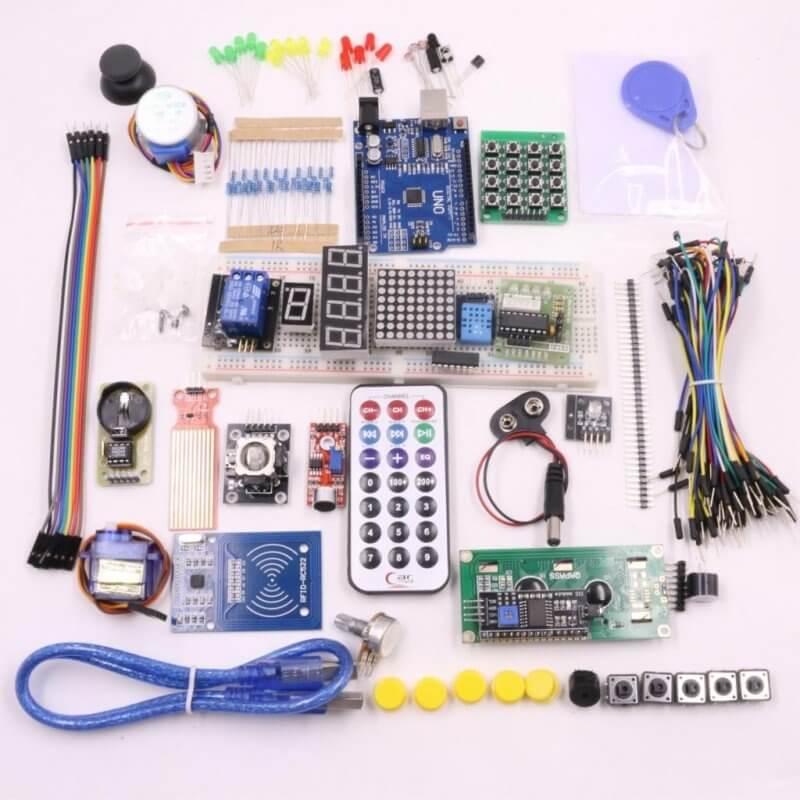 Kit inicio para arduino con uno r componentes