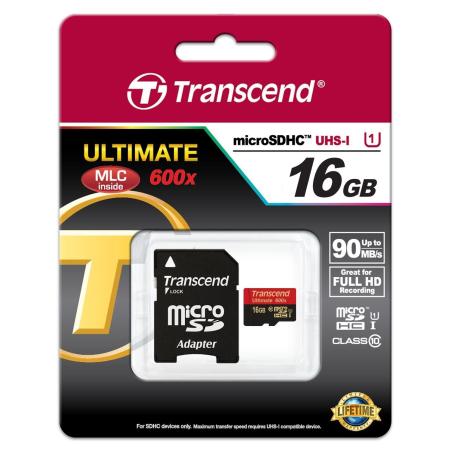 TRANSCEND ULTIMATE MICROSDHC 16GB CLASS10 UHS-I 90MB/S TS16GUSDHC10U1