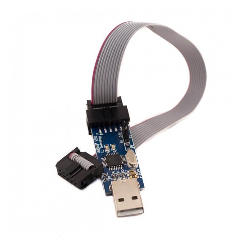 PROGRAMADOR ISP USBASP AVR V2.0 CON CABLE