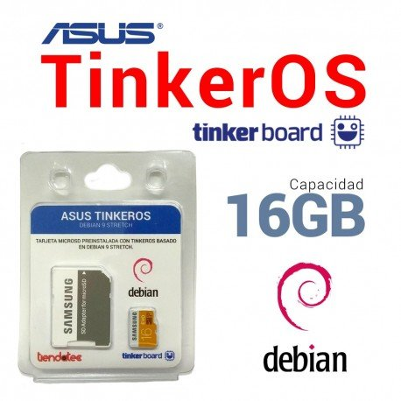 SOFTWARE TINKEROS PREINSTALADO EN MICROSD 16GB PARA ASUS TINKER BOARD
