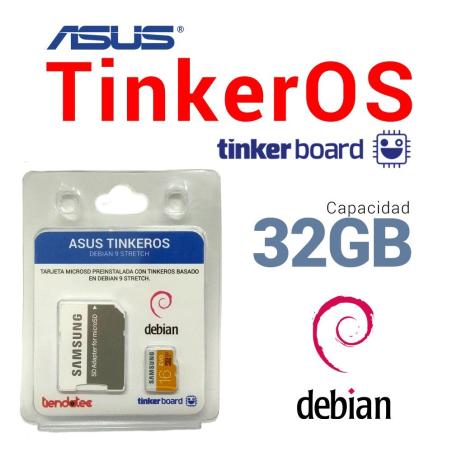 SOFTWARE TINKEROS PREINSTALADO EN MICROSD 32GB PARA ASUS TINKER BOARD