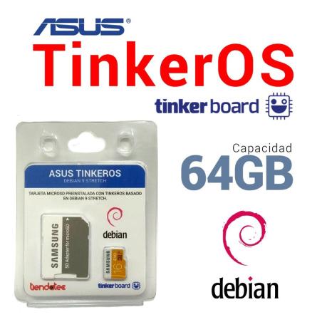 SOFTWARE TINKEROS PREINSTALADO EN MICROSD 64GB PARA ASUS TINKER BOARD