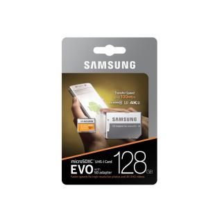 SAMSUNG MICROSDXC 128GB CLASS10 GRADE3 UHS-I EVO 100MB/S MB-MP128GA/EU 2017