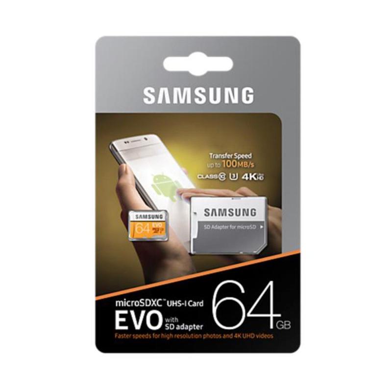 SAMSUNG MICROSDXC 64GB CLASS10 GRADE3 UHS-I EVO 100MB/S MB-MP64GA/EU 2017