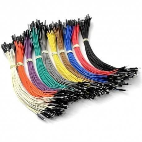 PACK 100 CABLES DUPONT 20CM M/H