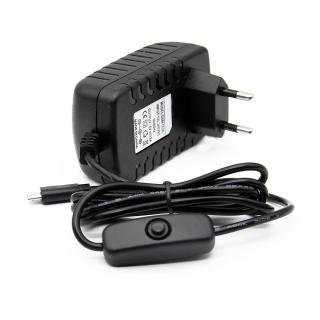 FUENTE ALIMENTACION 5V 3A MICRO USB CON INTERRUPTOR - COMPATIBLE RASPBERRY PI 3