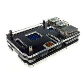 CAJA ACRILICA 5 CAPAS LCD/HAT PARA RASPBERRY PI 3 B