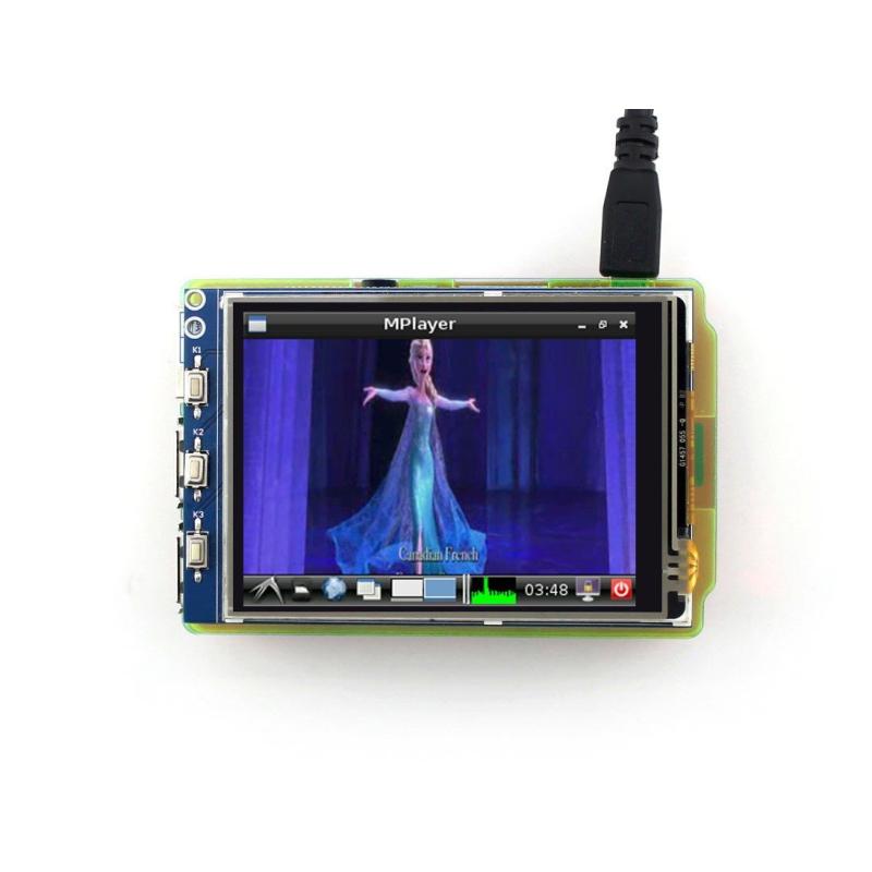 "PANTALLA LCD TACTIL 3,2"" 480x320 SPI PARA RASPBERRY PI"