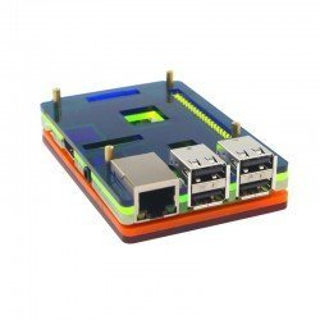 CAJA ACRILICA 5 CAPAS COLORIDA LCD/HAT PARA RASPBERRY PI 3