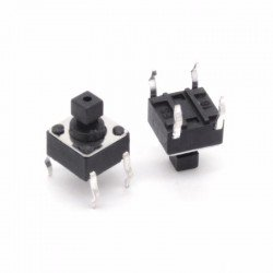 MICRO PULSADOR SWITCH TACTIL 6x6x7,3mm (PACK x4)