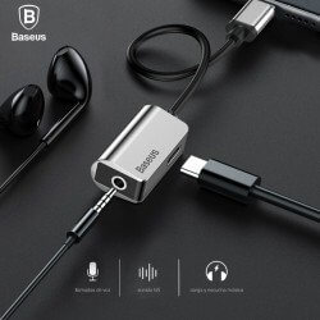BASEUS L40 CONVERSOR ACTIVO USB-C A JACK 3.5 AURICULARES Y CARGADOR USB-C PARA TELEFONOS MOVILES