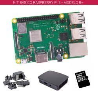 RASPBERRY PI 3 - MODELO B+ - KIT BASICO (16GB NEGRO)