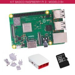 RASPBERRY PI 3 - MODELO B+ - KIT BASICO (32GB BLANCO)