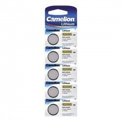 CAMELION PILA BOTON LITIO 3V CR2032 LARGA DURACION (PACK x5)