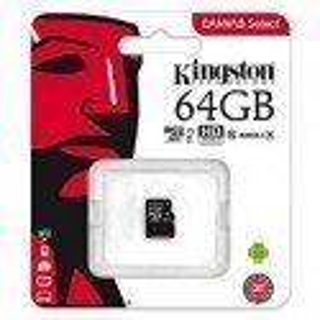 KINGSTON CANVAS SELECT MICROSDXC 64GB CLASS10 UHS-I 80MB/S SDCS/64GBSP