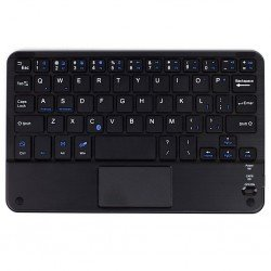 TECLADO CON TRACKPAD BLUETOOTH RECARGABLE