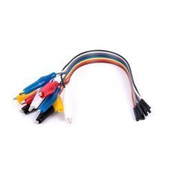 CABLE PINZAS COCODRILO A DUPONT HEMBRA (x10)