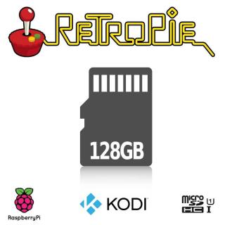 MICROSD CON RETROPIE ARCADE CONFIGURADA PARA RASPBERRY PI (128GB)