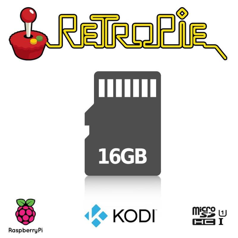 MICROSD CON RETROPIE ARCADE CONFIGURADA PARA RASPBERRY PI (16GB)
