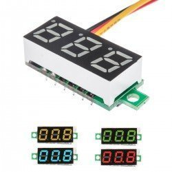 VOLTIMETRO DC DISPLAY 3 DIGITOS 0-100V