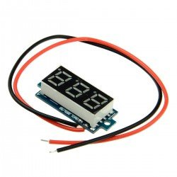 VOLTIMETRO DC DISPLAY 3 DIGITOS 2,5-30V STM8S003F3