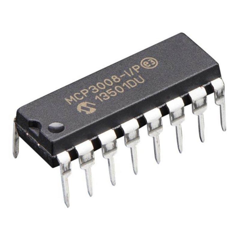 MCP3008-I/P CONVERSOR ADC 8 CANALES 10 BITS SPI