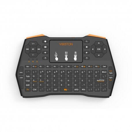 MINI TECLADO CON TRACKPAD INALAMBRICO RECARGABLE