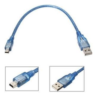 MINI CABLE USB A MINIUSB 30CM PARA ARDUINO NANO MICRO NODEMCU