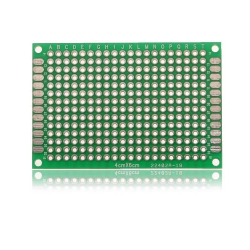 PLACA PCB PROTOTIPOS 4x6cm DOBLE CARA